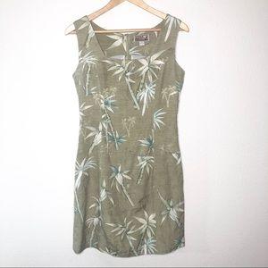 Tiki Classics 100% Silk Dress Island Print Size 8